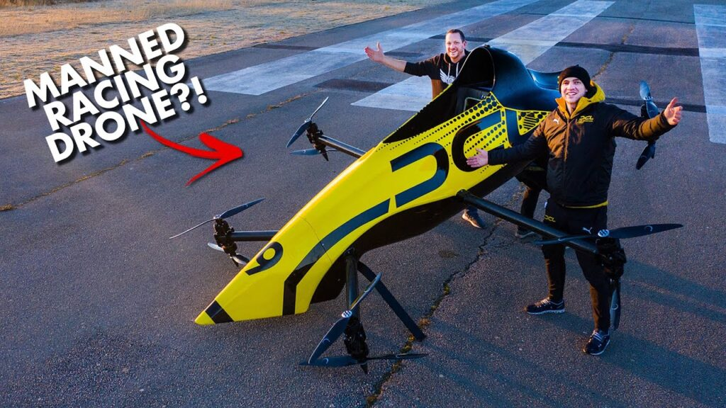 First Manned Aerobatic RACING Drone – Will it FLIP? 😲