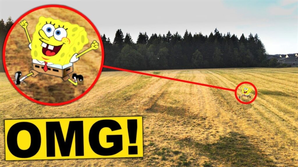 My DRONE found SPONGEBOB IN REAL LIFE!! Real life Spongebob Squarepants Caught on Camera!!