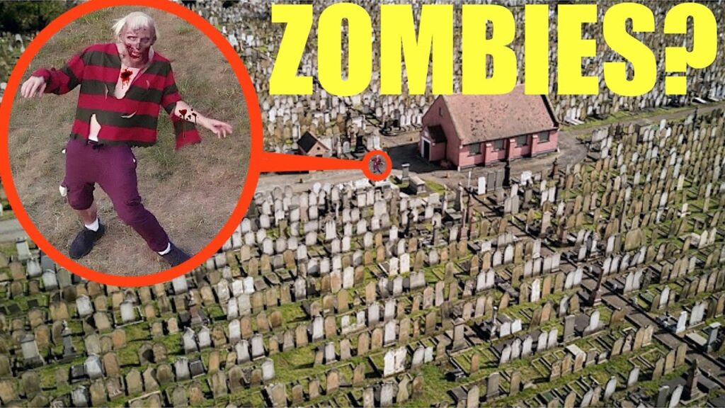 you will not believe what my drone found at this abandoned Zombie apocalypse ghost town graveyard