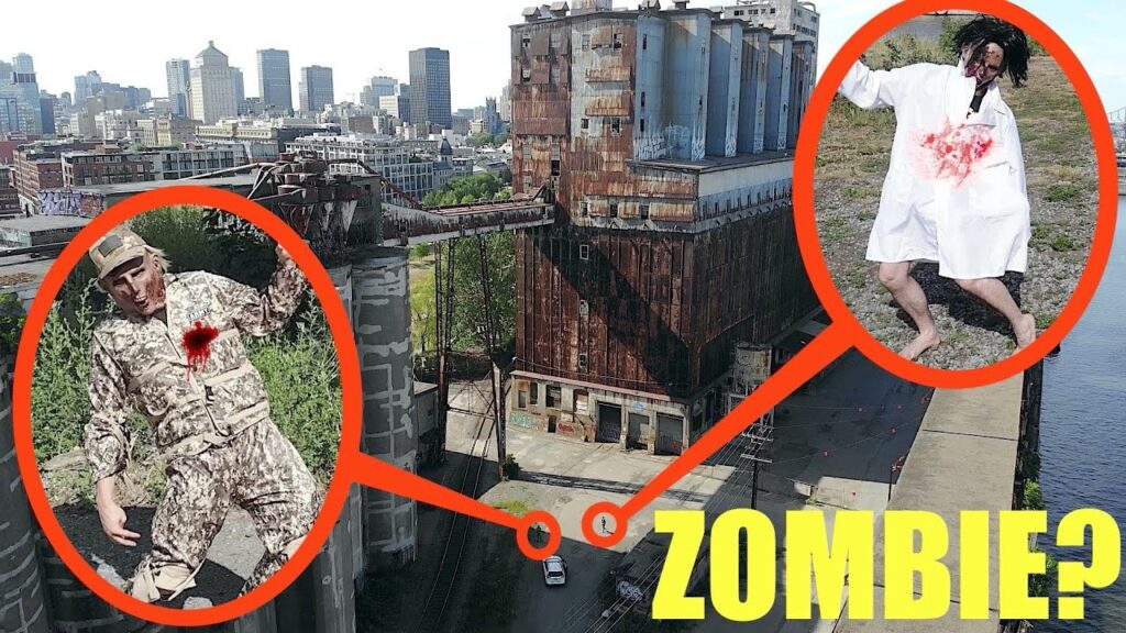 you won't believe what my drone saw in this secret abandoned real life Zombie Apocalypse Ghost City!